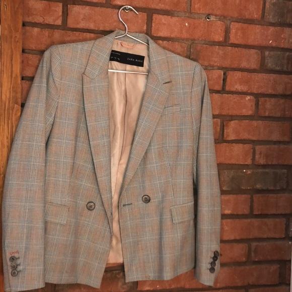 Zara | Plaid Gray blazer | Size Small/26